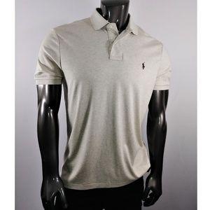 Ralph Lauren Light Brown Polo shirt (Soft Touch)